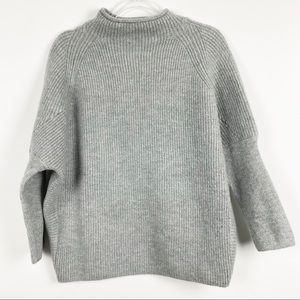 NWT For The Republic Grey Oversized Sweater